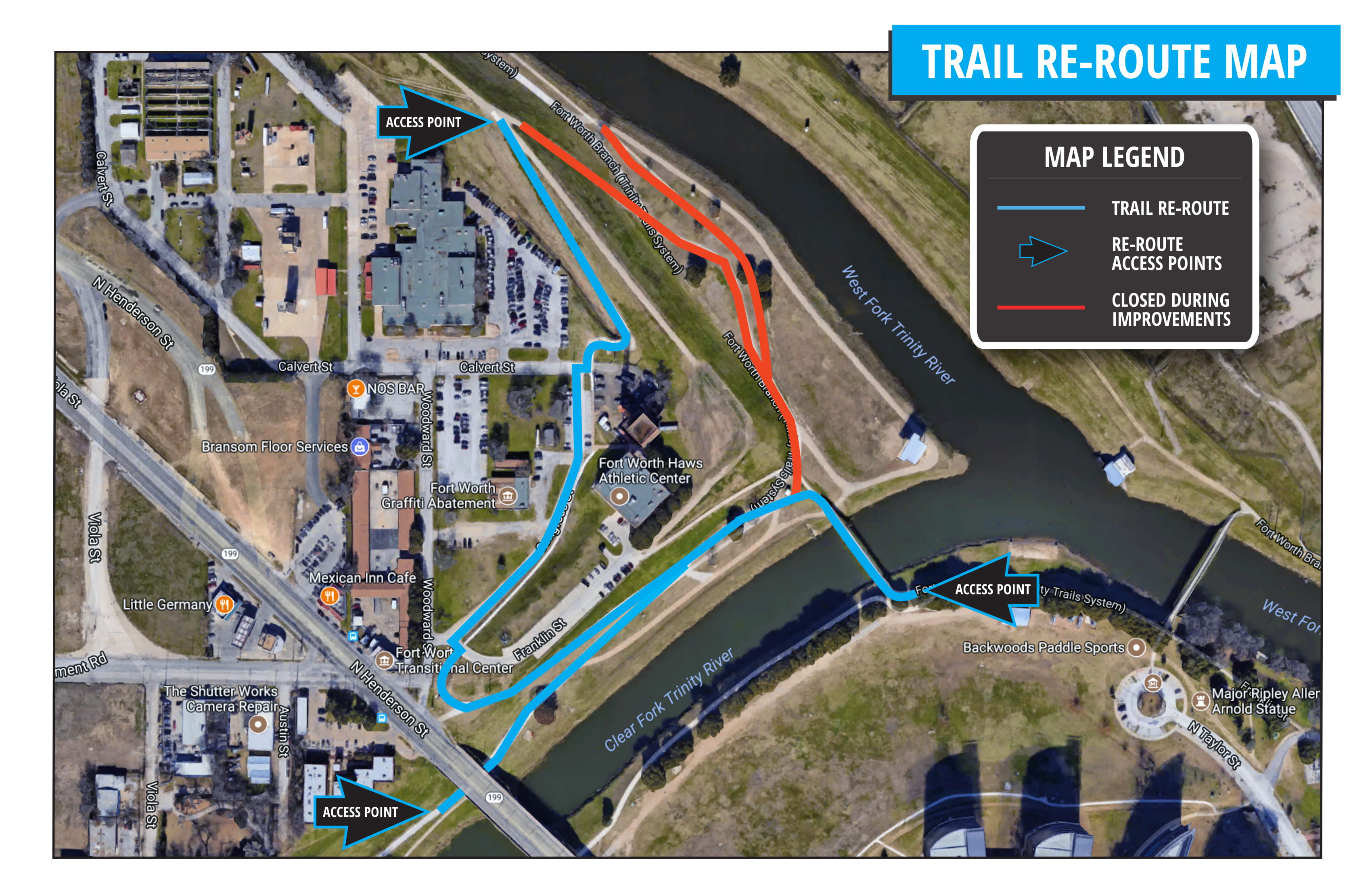 Trail Improvements Map | TRWD