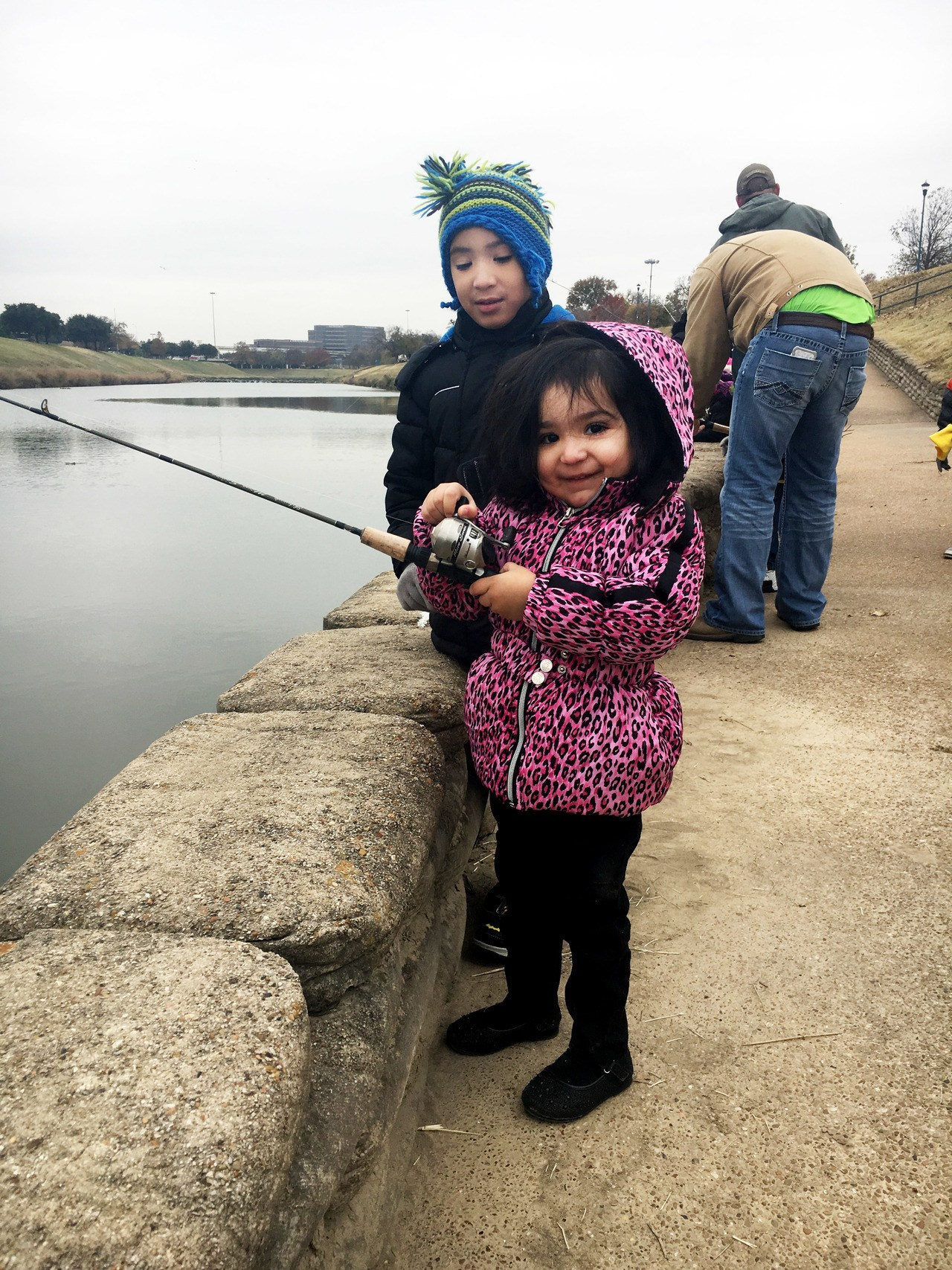 trwd trout release in the trinity river creates