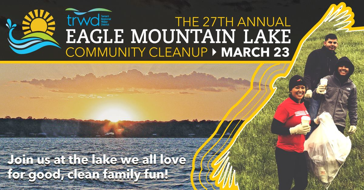 Take Action at the Eagle Mountain Lake Cleanup