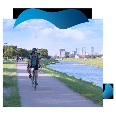 Trinity Trail Cyclist | TRWD