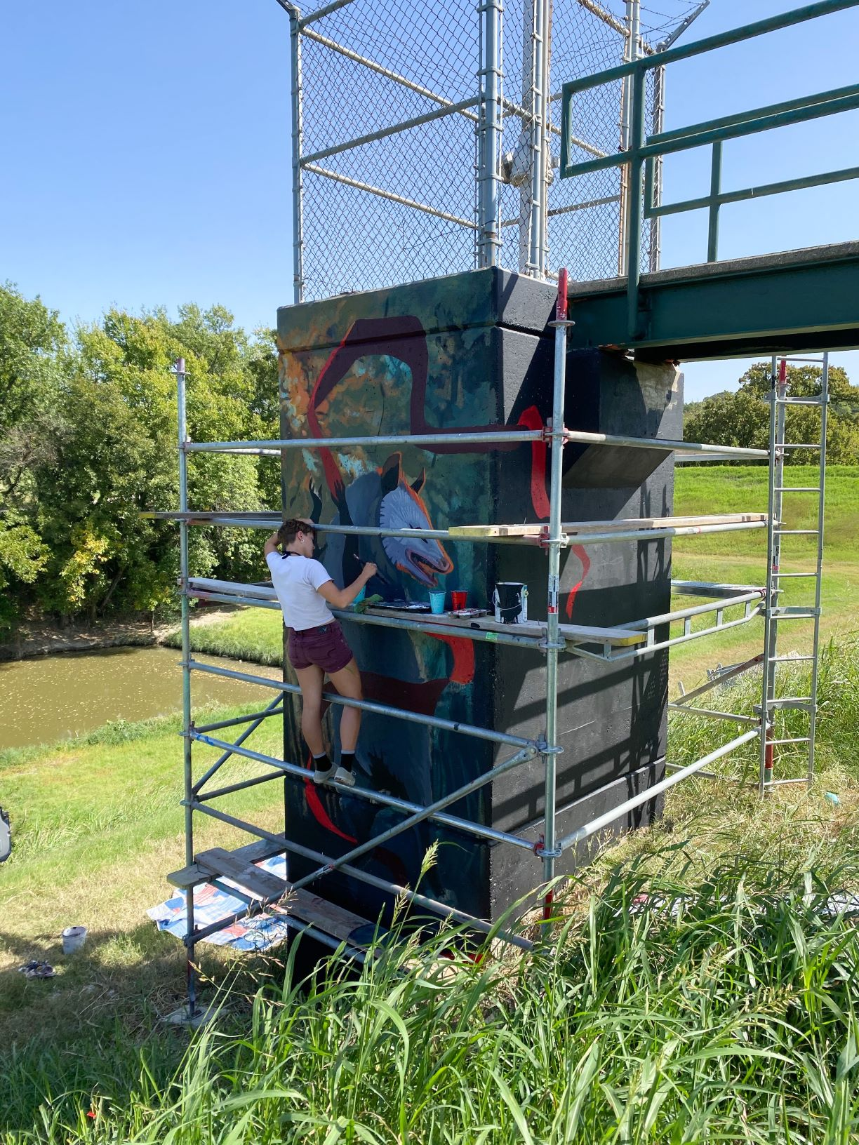 TRWD Operations Team Plays Integral Role in Mural Gallery